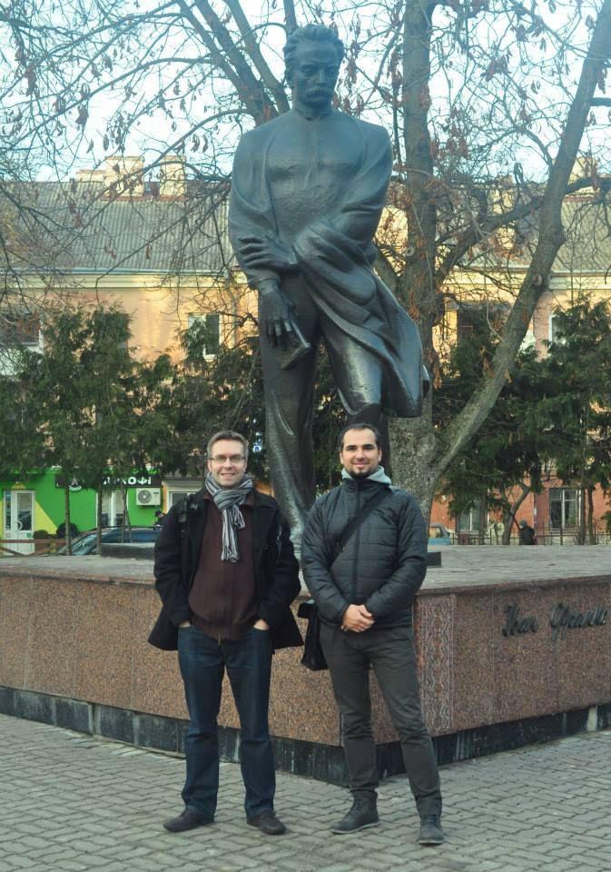 Les co-auteurs: Cyril Horiszny, Mikhaï Tymochenko et Ivan Franko