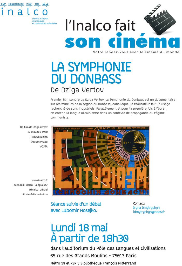 Affiche de la projection de La symphonie du Donbass