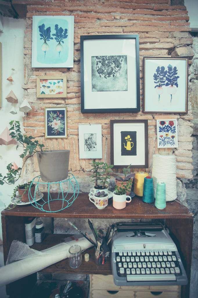 Sophie Morille ... son atelier ...
