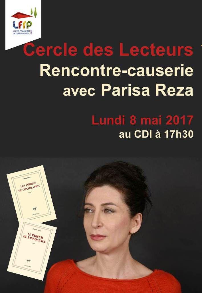 Rencontre avec Parisa Reza - Lundi 08 mai au Lycée français