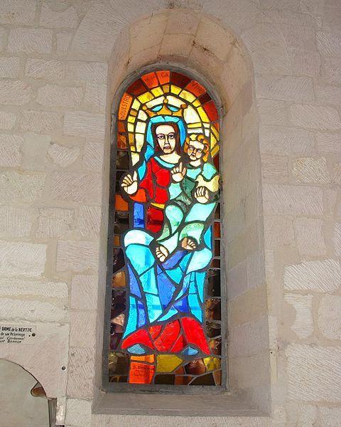 Le vitrail de Notre Dame de la Galline  Photo de Fr  Latreille  creative commons