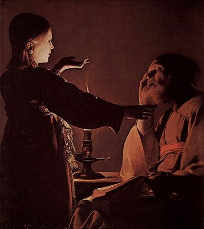 Georges de la Tour : Apparition de l'ange à Saint Joseph