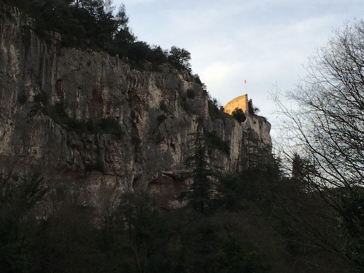 Une journée d'hiver à Fontaine de Vaucluse...