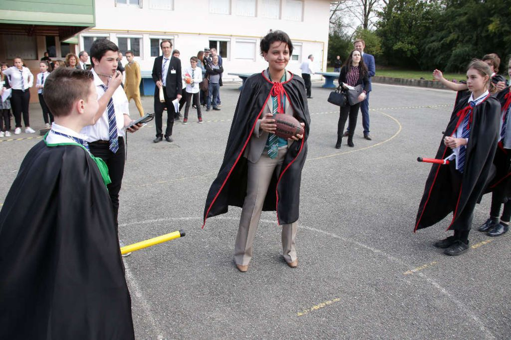 Najat Vallaud-Belkacem au pays d'Harry Potter...