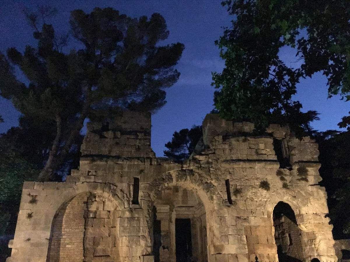 Jeux d'ombre et de lumière aux Jardins de la Fontaine....
