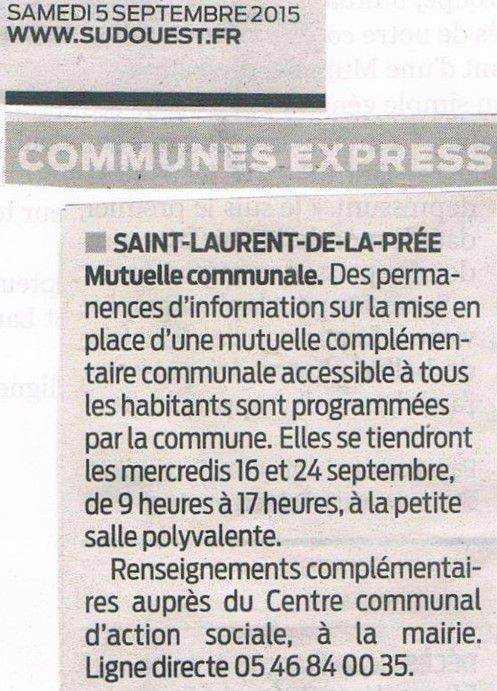 """Article Sud-Ouest : """"Mutuelle communale"""""""