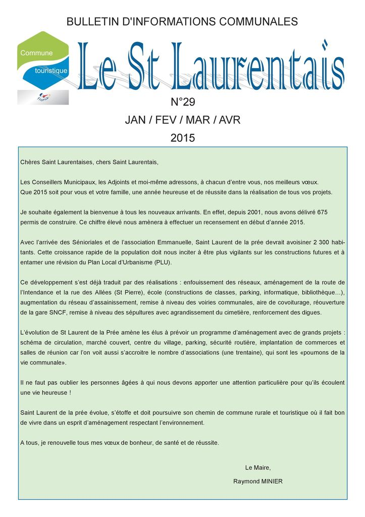 Le St Laurentais N° 29