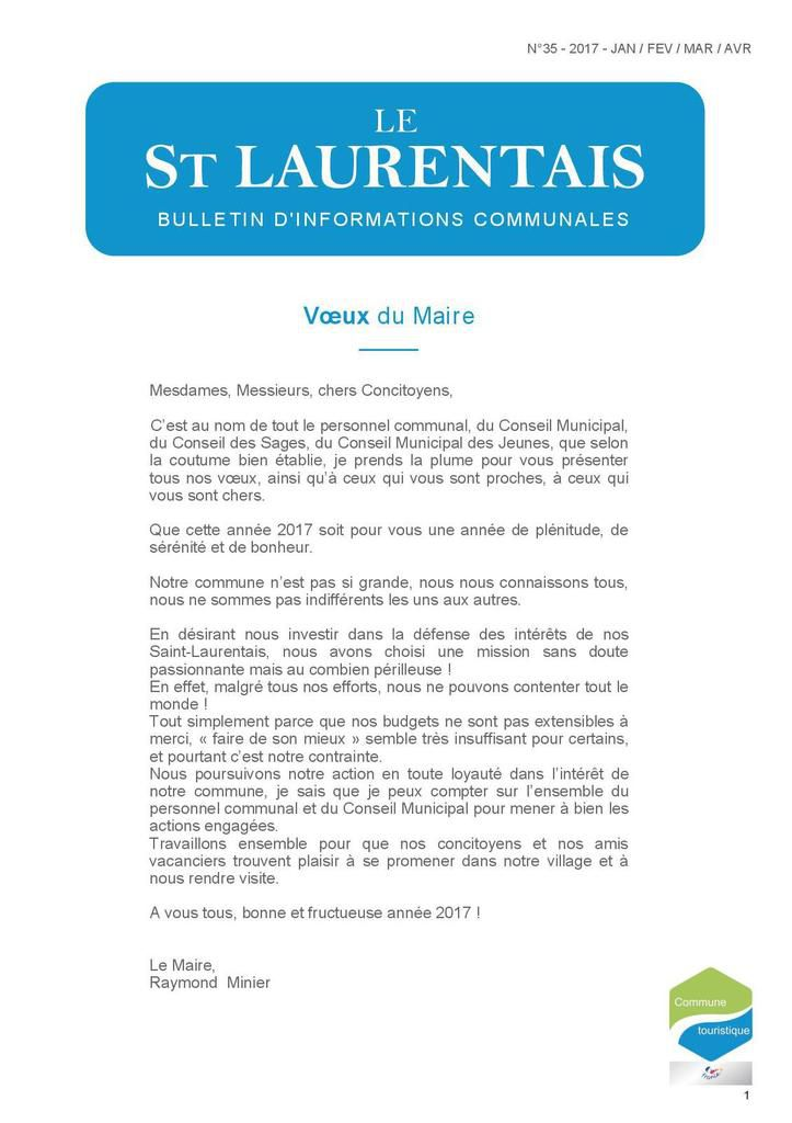 Le St Laurentais N° 35