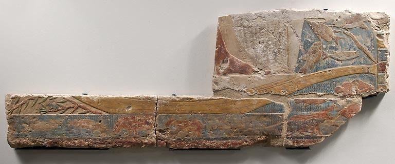 DES ANIMAUX ET DES PHARAONS - XXV. - LA FAUNE NILOTIQUE : 2. LE BAS-RELIEF E 26092