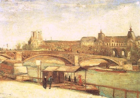 Vincent VAN GOGH : Le Pont du Carrousel et le Louvre (1886)