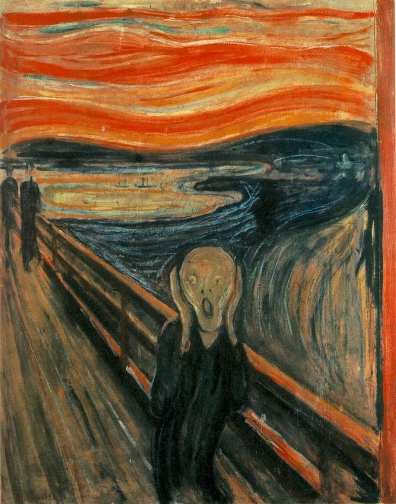 MUNCH, Le Cri  -  © https://fr.wikipedia.org/wiki/Edvard_Munch#/media/File:The_Scream.jpg
