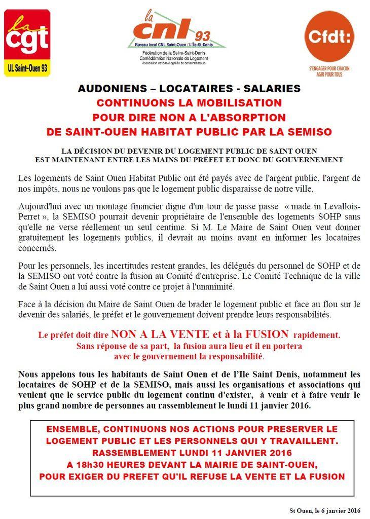 St Ouen Habitat : pour la défense de l'habitat public