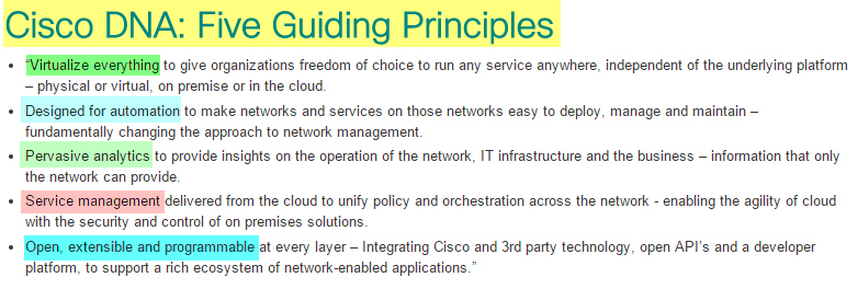 Cisco DNA-5 Principles