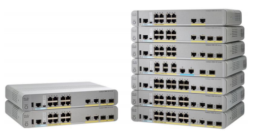 Cisco Catalyst 3560-CX (the right) and 2960-CX (the Left) Compact Switch