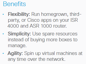 KVM (Kernel Virtual Machines) App Hosting on a Cisco Router-Benefits