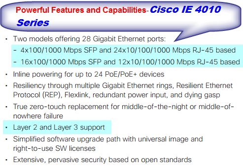IE 4010 Series-Solution Highlights and Capabilities