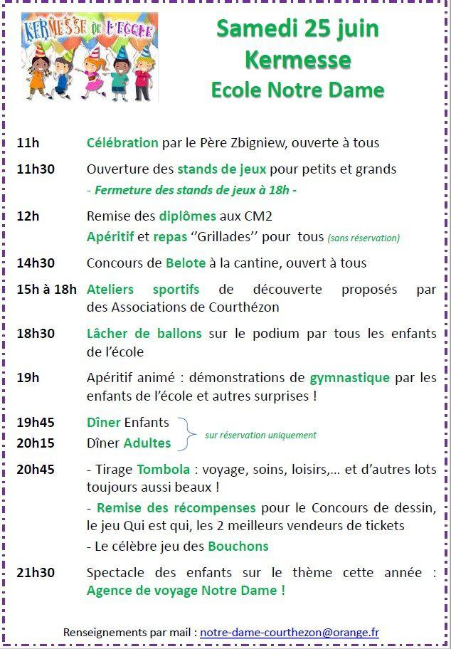 Kermesse : le programme des festivités à J-7 !!!