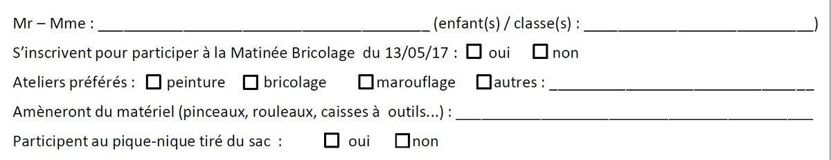 Matinée Bricolage : rdv le samedi 13 mai à 9h !