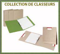 Création de classeurs en carton recyclé avec marquage publicitaire