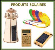 Collection produits et de maquettes solaires en bois