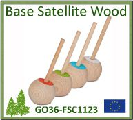 Stylo de comptoir Satellite Wood Color certifié FSC® - GO36-FSC1123