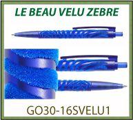 Stylo bille VELVET le beau velu avec marquage en relief velours GO30-16SVELU1
