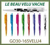 Stylo bille VELVET le beau velu avec marquage en relief velours GO30-16SVELU4