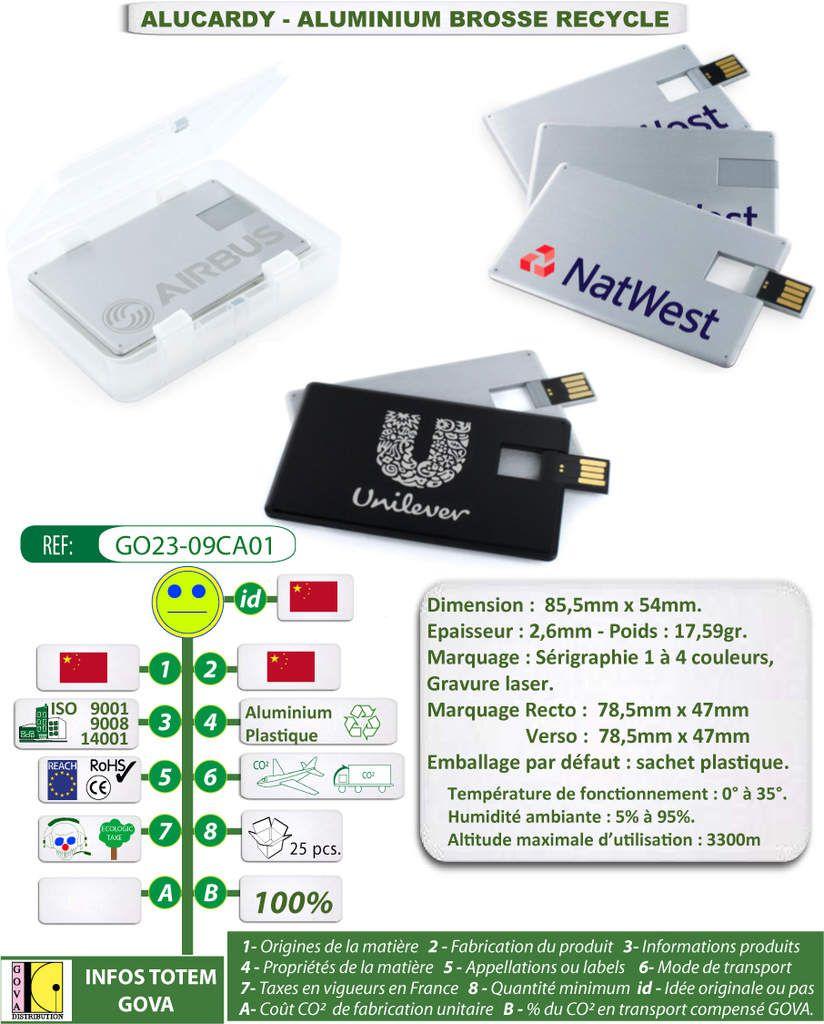 Cl USB CARDY Au Format Carte De Visite