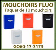 mouchoirs en papier paquet de 10 pieces