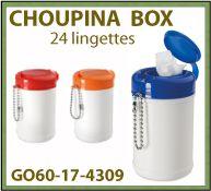 24 Lingettes dans une boite en plastique