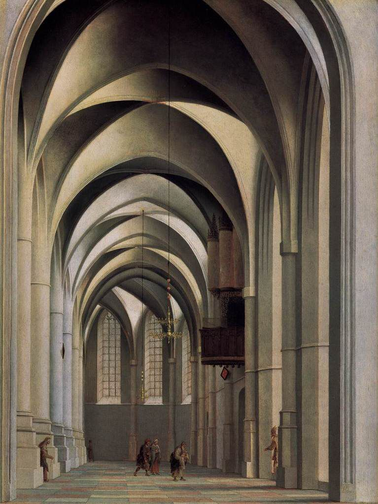 Où suis-je, aisthèsis ? (View of the ambulatory of the Grote or St. Bavokerk at Haarlem.)