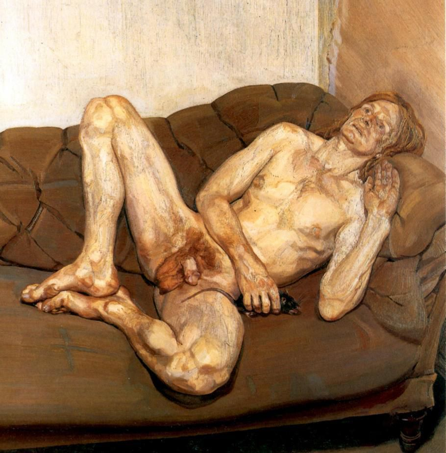 Lucian Freud - Naked Man with Rat, 1977 -