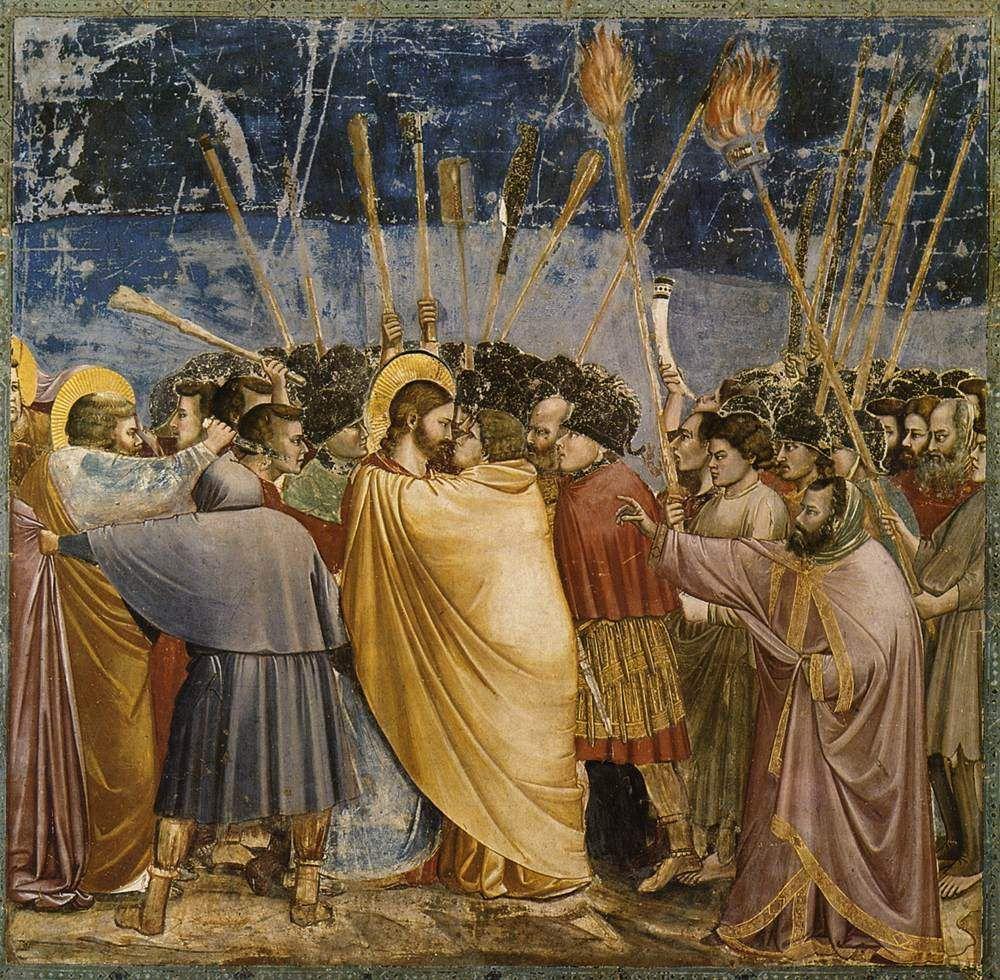 Giotto, l'arrestation du Christ