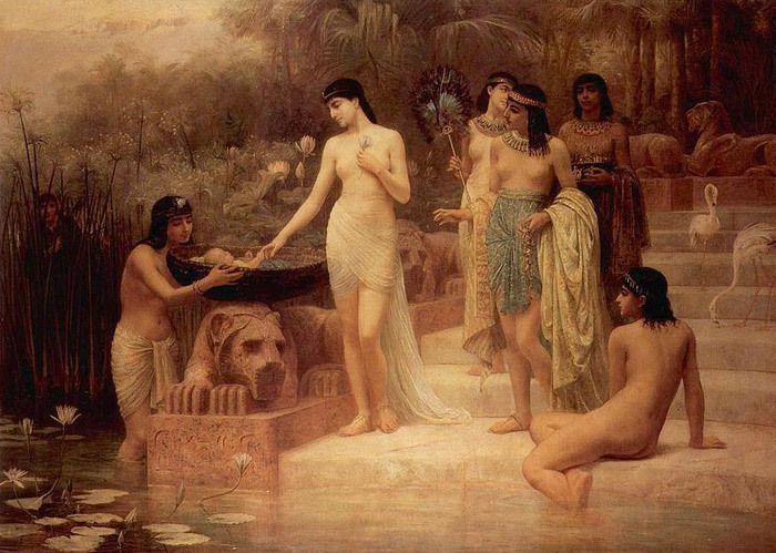 """Edwin Long, """"The Finding of Moses"""""""