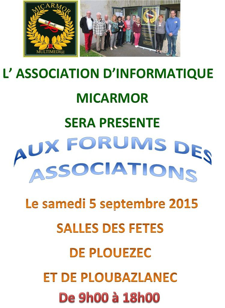 FORUMS DES ASSOCIATIONS 2015