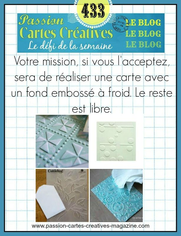 CHALLENGE PASSIONS CARTES CREATIVES 433