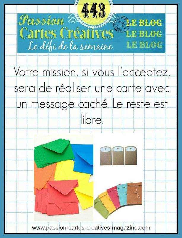 DEFI 443 DE PASSION CARTES CREATIVES