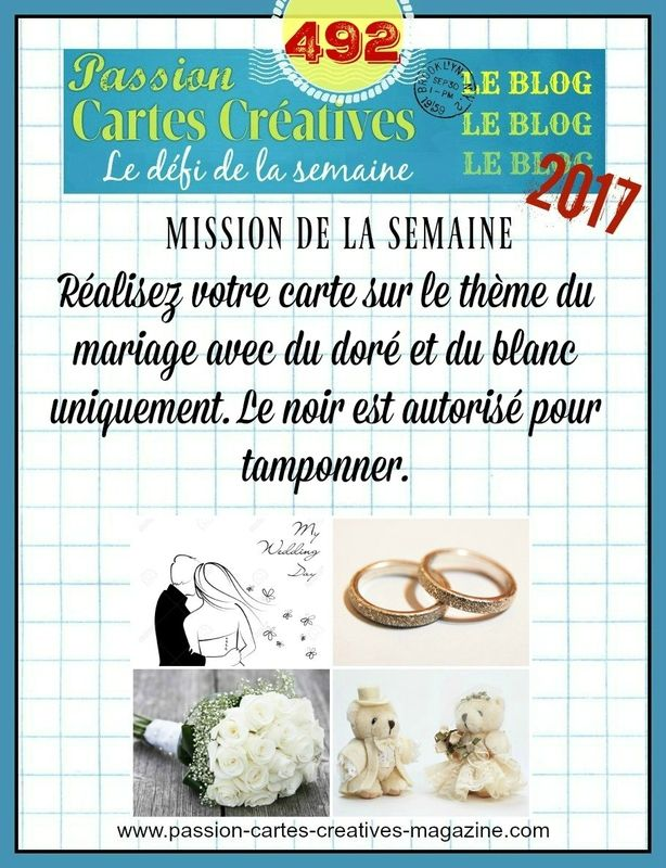 DEFI 492 DE PASSION CARTES CREATIVES