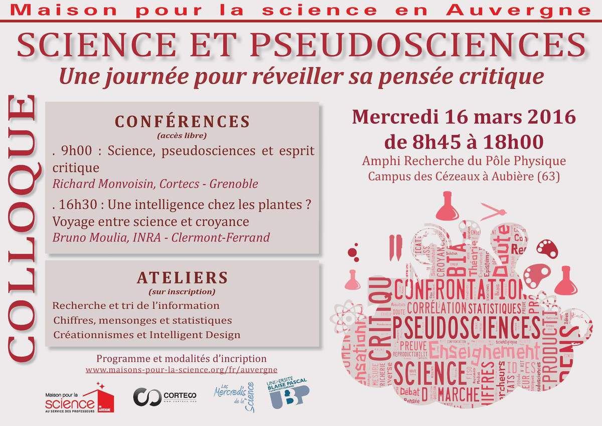 Science et pseudosciences, une journée pour réveiller sa pensée critique
