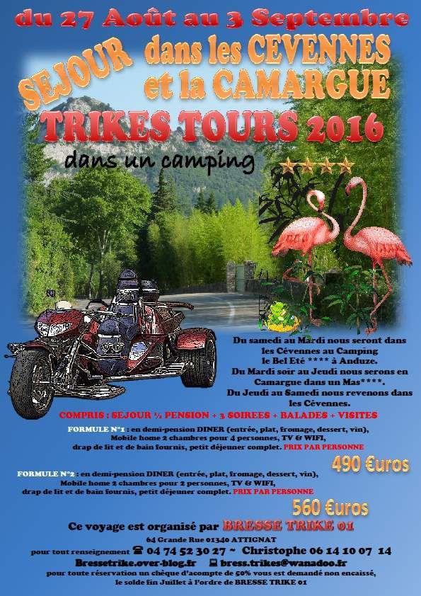 CEVENNES & CAMARGUE TRIKES TOURS 2016