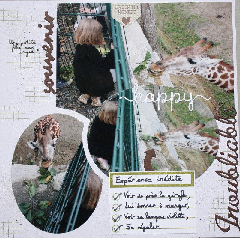 Deux pages avec la girafe Rayma