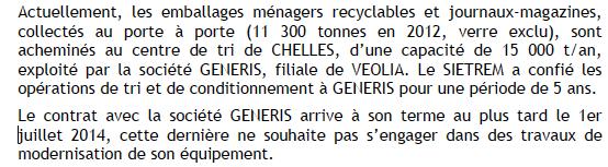 Centre de tri sélectif déchets ménagers recyclables à Saint-Thibault-des-Vignes