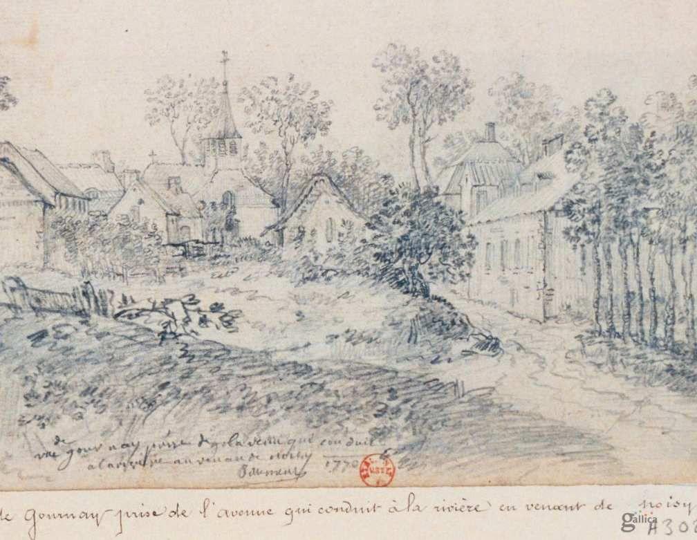 Gournay : la place de l'Eglise en venant de Noisy 1770-2016