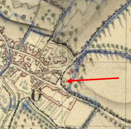 Le village de Chelles gravure du XIXe de TIMMS