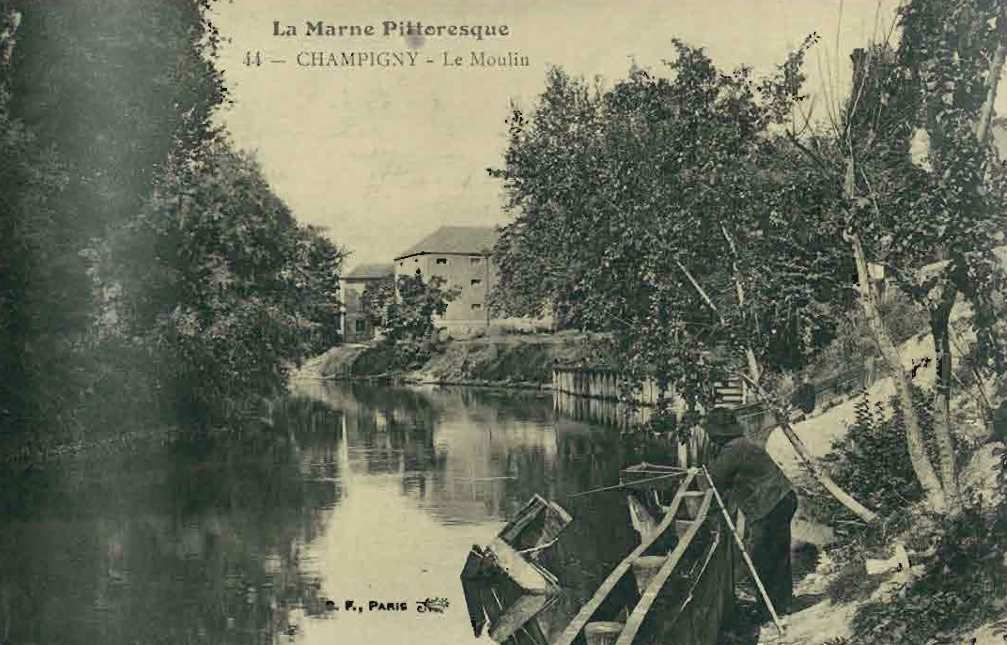 Le moulin flottant de Champigny  : redécouvert !