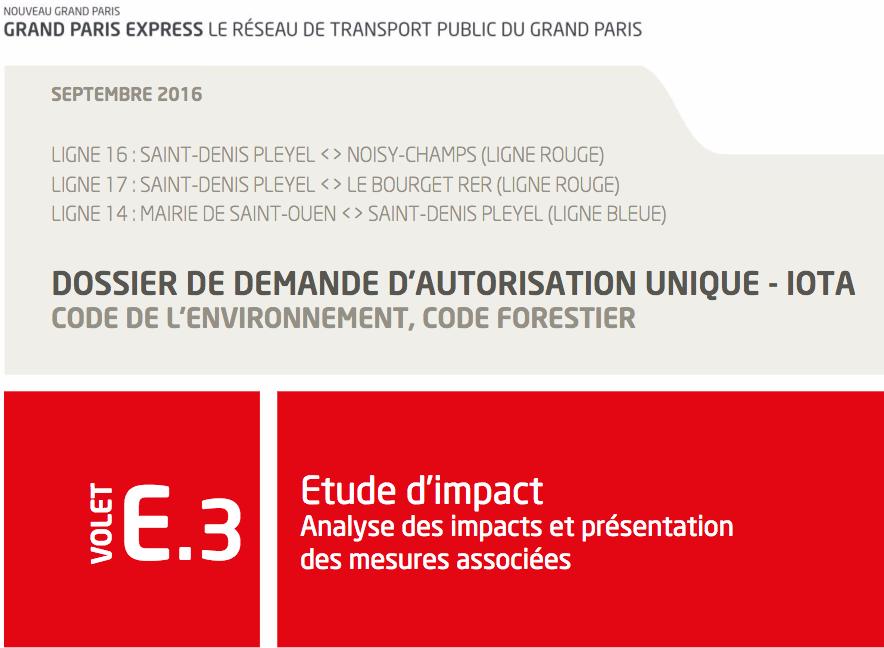 Grand Paris Express : nouvelle Enquête Publique:
