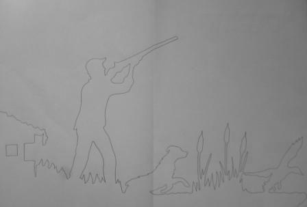Girouette chasse à la hutte