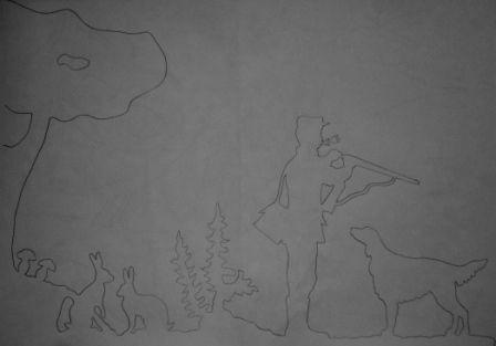 Girouette du chasseur et son setter
