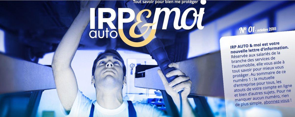 IRP AUTO et moi, octobre 2015