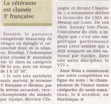 Mondiaux d'athlétisme à Lyon ... déjà la notoriété !